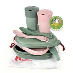 Arctic Life Pack´n Eat Kit BIO green/pink