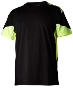 TS T-paita musta/kelta