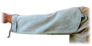 Hihansuoja hitsaaja,haljasnahkaa 650mm