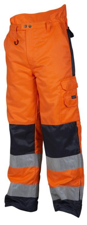 TS HiVis talvihousut orans/navy