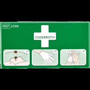 Cederroth tartuntasuojapakkaus 2596 suojaa elvytystilanteessa suoralta kosketukselta.