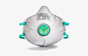 BLS Zero FFP3 hengityssuojain, joka on kevyt ja helppo hengittää.