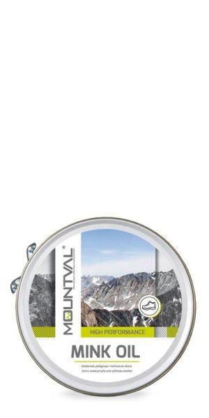 Mountval Mink Oil nahan hoitoaine suojaa kenkäsi ja palauttaa nahan pehmeyden.